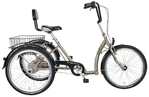 PFAU-TEC Dreirad Comfort 24, sandbeige, 7-Gang SRAM