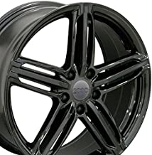OE Wheels 18 Inch Fits Volkswagen CC Beetle Audi A3 A8 A4 A5 A6 TT RS6 Style AU12 35 Offset Gloss Black 18x8 Rim