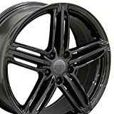 OE Wheels LLC 18 inch Rim Fits Audi RS6 Wheel AU12 18x8 Black Wheel 35 ET