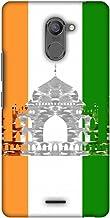 AMZER Slim Designer Snap On Hard Shell Case for Infinix Hot 4 Pro - The Taj Mahal- India Flag