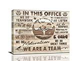 Inspirational Wall Art For Office Motivational Positive Quotes Canvas Wall Decor We Are A Team Giclee Prints Painting Framed Modern Office Artwork Home Decoration For Office Living Room 16x20inch