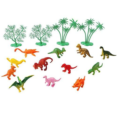 Saniswink Exquisite Ornamente, 16 Stück/Set, lustiger Dschungel-Dinosaurier-Kuchen-Ornamente für Kindergeburtstag, Party-Dekoration Einheitsgröße siehe abbildung
