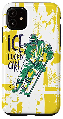 iPhone 11 Ice Hockey Girl Girlie Woman Player Winter Sports Game Gift Case