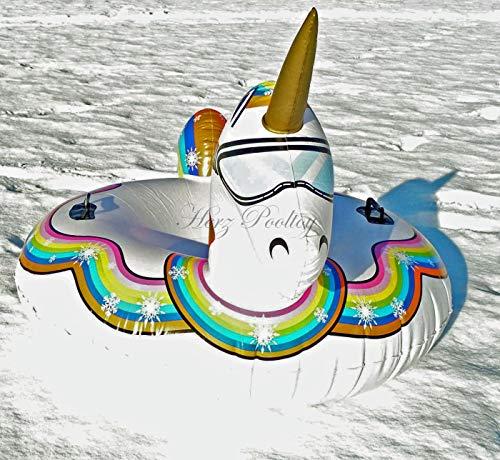 HPT Snow Tube/Rutschreifen/Schlitten im Einhorn Design aufblasbar