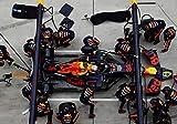 Max Verstappen 33 Red Bull-Racing Pit Stop während Formel