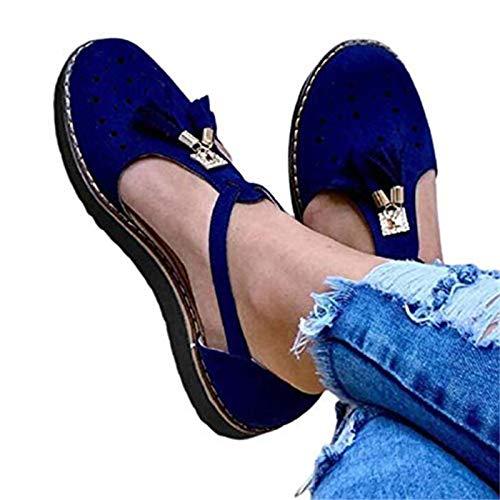 Sandalias Alpargatas Para Mujer Borla Punta Redonda Ahueca Hacia Fuera Sandalias De Plataforma Plana Sandalias De Cuña De Plataforma Zapatos Planos Recorte De Verano Sandalias De Punta Cerrada Adult