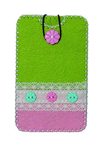Kleiber 13 x 7 cm Kit Feutre Vert et Rose Assemblage Housse Smartphone Enfant