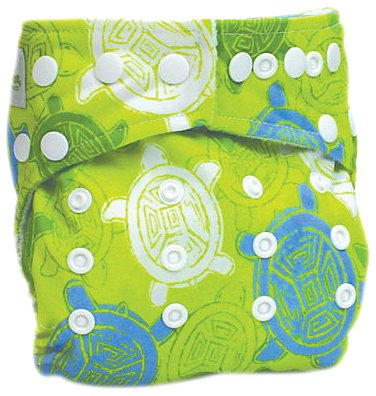 Bumkins All in One Cloth Diaper, Green Turtle