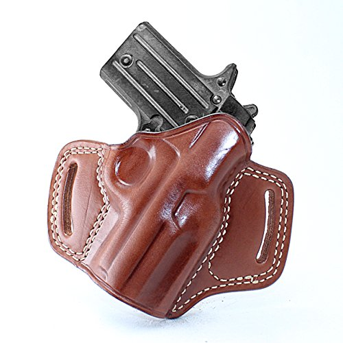 Premium The Ultimate Leather OWB Pancake Holster Open Top fits Sig P238, Right Hand Draw, Brown Color #1096#