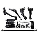 BLACK Forward Controls Kit Harley Sportster XL883 XL1200 Selected Model Peg + Lever + Linkages + Mounting Hardware (2004-2013)