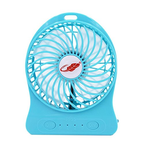 Iusun Portable Mini Fan Pocket Cool Air Hand Held Battery Travel Sports Blower Cooler Desk Fan