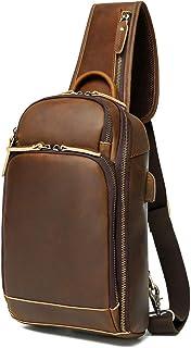 OakHide Genuine Leather Sling Bag Backpack, 2 sizes