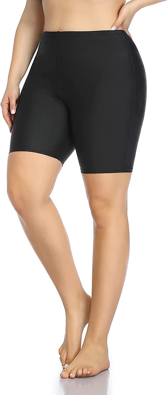 Aqua Eve Women Plus Size Sport Board Shorts Tankini Bottoms High Waisted Swim Shorts