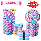 Best Gifts For 2 Year Old Girls - HOMOFY 40PCS Castle Magnetic Blocks - Learning Review
