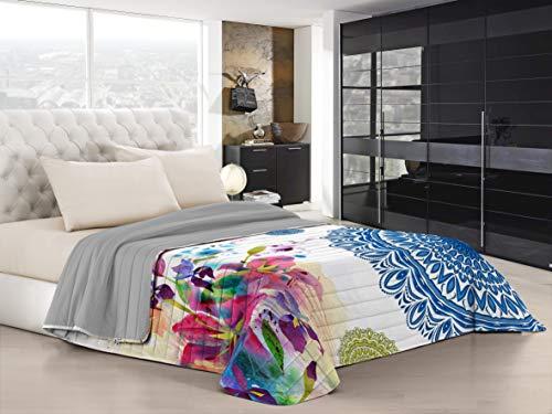 Italian Bed Linen Ki-Osa Trapuntino Estivo con Stampa in Digital, 100% Microfibra, Kio618 (Multicolore), Matrimoniale, 260 x 270 cm