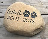 Personalized Dog Pet Memorial River Stone...
