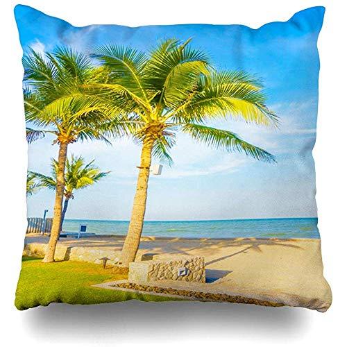 Suo Long Kissenbezug Reise Blue Garden Swimmingpool Light Hotel Nature Beach Parks Ferienhaus Kissenbezug