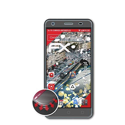 atFolix Schutzfolie kompatibel mit Acer Liquid Z6E Duo Folie, entspiegelnde & Flexible FX Bildschirmschutzfolie (3X)