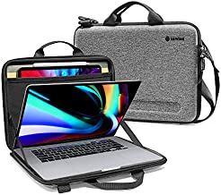 tomtoc Ultra-Slim Case for 16-inch New MacBook Pro A2141, 15-inch Old MacBook Pro A1398, Organized Shoulder Bag with Tablet Pocket for Up to 12.9-iPad Pro with Magic Keyboard and Smart Keyboard Folio