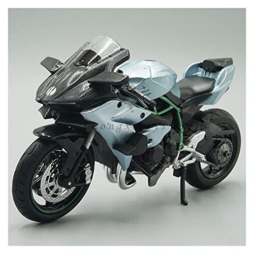 El Maquetas Coche Motocross Fantastico 1:12 Modelo Motocicleta Aleación Simulación Fundida A Presión para Kawasaki Ninja H2 Réplica Bicicleta Deportiva con Sonido Y Luz Regalos Juegos Mas Vendidos
