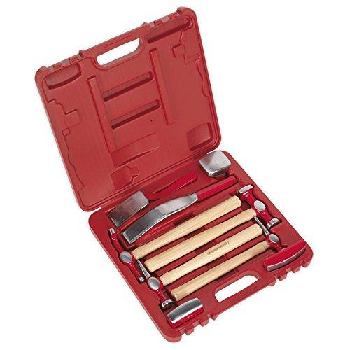 Sealey CB58 - Set di martelli e tassi da carrozziere, 9 pezzi