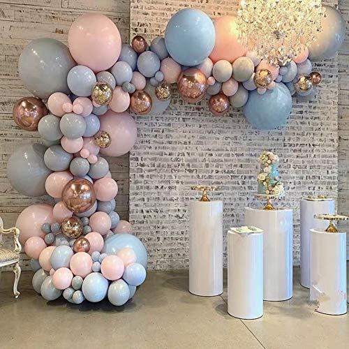 마카롱 핑크 풍선 및 금속 금 BALLOONS148PCS 18IN | 12IN 풍선은 아치형 구조물 및 여 환 키트 풍선 스트립에 테이프를 졸업 결혼식 생일 장식
