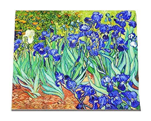 Peinture Numéro Adulte Enfant, WOWDECOR Van Gogh Iris Fleurs DIY Peinture par Numero, Paint by Numbers