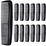 Hestya 24 Pack Black Hair Comb Pocket Plastic Comb Unbreakable Plastic Hairdressing Styling Comb Set for Salon or Hotel Hair Care