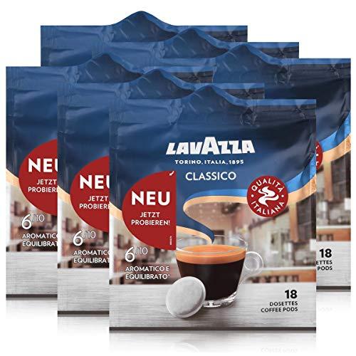 Lavazza Kaffeepads Classico 18 Pads - Für Kaffee-Padmaschinen 125g (6er Pack)