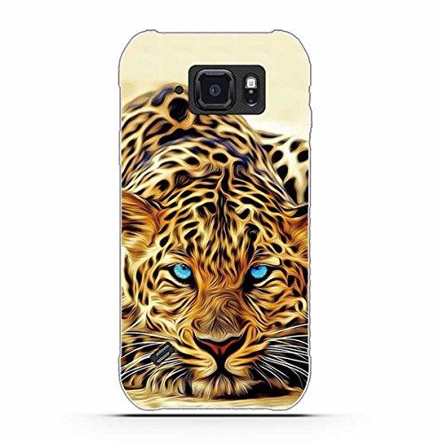 Galaxy S6 Active Hülle, S6 Active Hülle, Gift_Source [ Leopard ] Weicher Flexibel Klar Transparent Gel Silikon TPU Hülle Superdünn Stoßfest Tasche Handy-Kasten für Samsung Galaxy S6 Active G890