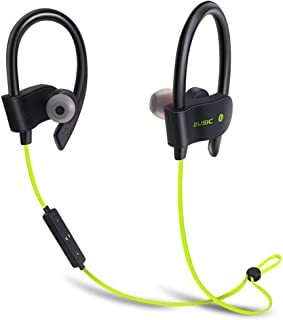 Bluetooth Headphone 4.1 Wireless Stereo with Microphone Sport Headset in-Ear Earphone for Other Smartphones or Bluetooth Devices (Yellow)
