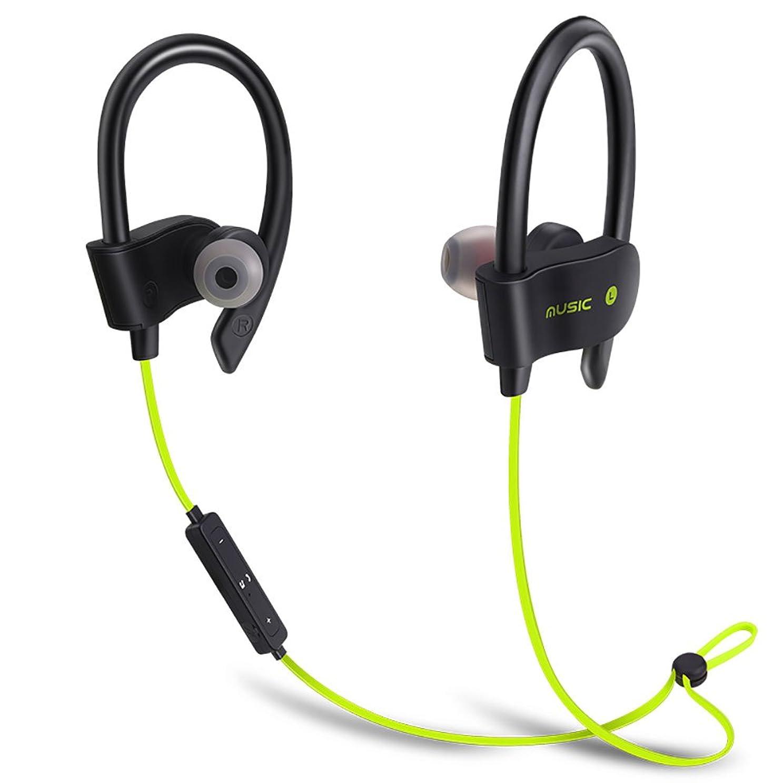 刈り取る申請者オーガニックワイヤレ スインイヤー Bluetooth ヘッドフォン HD ステレオ 防水 ハンズフリー通話 人間工学 ソフトシリコン イヤホン マイク内蔵 防汗防滴 (イエロー)