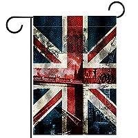 ガーデンヤードフラッグ両面 /12x18in/ ポリエステルウェルカムハウス旗バナー,英国旗のジーンズの模様