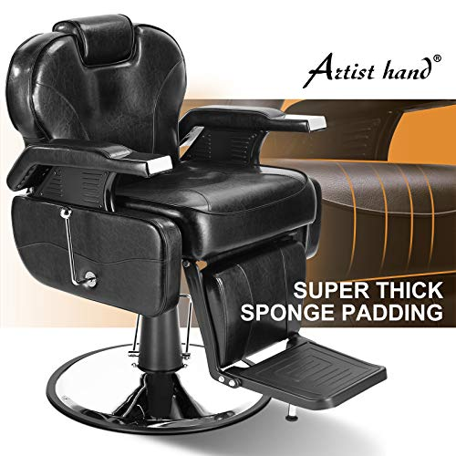 Artist Hand Barber Chair Hydraulic Recline Barber Chairs Salon Chair for Hair Stylist Tattoo Chair...