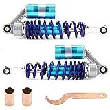 Amortiguador Amortiguadores, Universal Amortiguador trasero Moto Suspensión de acero inoxidable Resorte Amortiguador Amortiguadores Piezas Azul