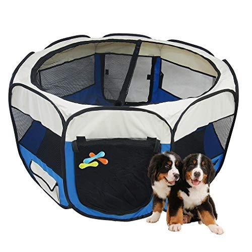 Sotech - Park für Kleintiere, Laufstall für Haustiere, Blau, Material: PVC-beschichtetes Polyester, Durchmesser: 125 cm