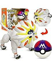 Qwead Anime Pokemon Solgaleo Action Figure Model Toy 10cm Pocket Elf Ball Manual Deformation Robot Elf Baby Set Movie & Amp TV Speelgoed Figuur