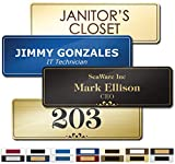 "Name Plate for Door, Office, Wall, Customized and Personalized, Laser Engraved, 2 1/2' x 8"" - Prestige Collection by My Sign Center, B123101"