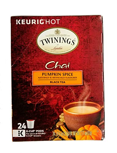 Twinings of London, Chai Pumpkin Spice Black Tea 24 K-Cup Pods (Pack of 1), For use in all Keurig K-Cup Brewers