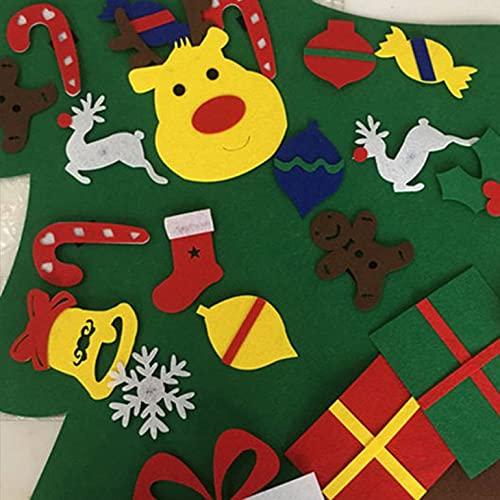 Feltro Albero di Natale Decorazione Ciondolo Bambini Handmade Fai Da Te Stereo Albero Di Natale Ornamenti Di Natale