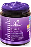 ArtNaturals Purple Hair Mask for Blonde, Silver & Platinum Hair - Removes Yellow Brassy Color, Repairs Dry & Bleached Hair - Deep Conditioning Treatment Hair Moisturizer - Sulfate Free (8 Oz/226g)