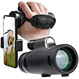 LACKOOL Monocular Telescope for Smartphone Monoculars for Adults Kids 10 x 42 High Power with Hand...
