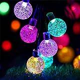 50 Guirnaldas Luces Exterior Solar,Luces de Navidad Solares Para Exterior, se Pueden Utilizar Para Jardín, Terraza, Campo de árboles, Decoración de Fiestas en Casa