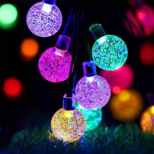 50 Luci Natalizie Solari, Catena Luminosa Esterno, Luci di Natale, Possono Essere Utilizzate per Giardino, Terrazza, Campo di Alberi, Decorazioni per Feste in Casa