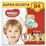 Huggies Pannolini Ultra Comfort, Taglia 5 (11-25 Kg), Confezione Da 84 Pannolini