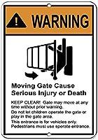 警告移動ゲートは、重傷または死亡のアルミニウム金属サインを引き起こす可能性があります