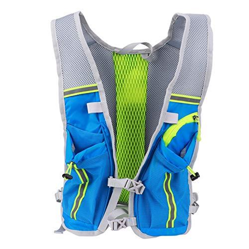 DAUERHAFT Bolsa de Bicicleta de vejiga de hidratación Transpirable Mochila de Agua Ligera y Duradera con Sistema de hidratación, para Deportes al Aire Libre(Blue-Green)