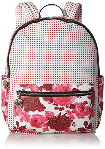 Betsey Johnson Large PVC Floral Backpack, Pink