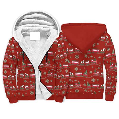 Hombres Tren 2021 Árbol de Navidad Sudadera con capucha Suéter Top Premium...