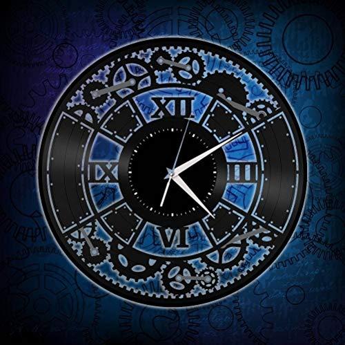 Reloj de Pared de Vinilo Steampunk, Regalo Decorativo de Registro, decoración del hogar, Arte de Pared Vintage, Frikis, lejos de la mercancía del hogar
